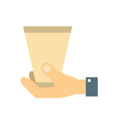 Hand with cup coffee vector