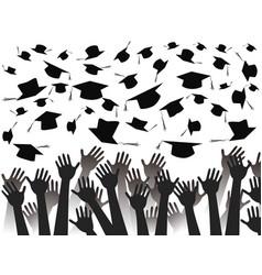 hands celebrating graduation vector image vector image