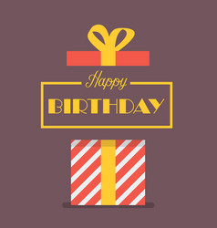 Happy birthday with gift box vector