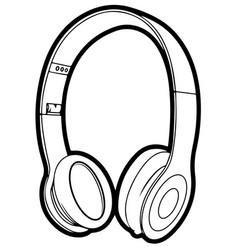 headphone icon line circuit eps 10 vector image vector image