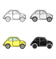 Italian retro car from italy icon in cartoon style vector
