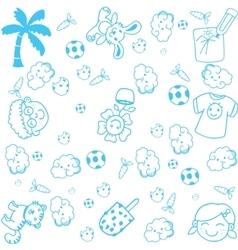 Kids happy doodle art vector