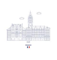 Lille city skyline vector