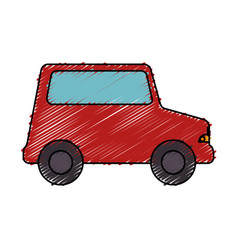 little car toy icon vector image vector image