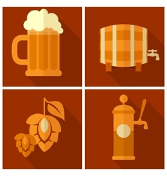 Oktoberfest set vector image vector image