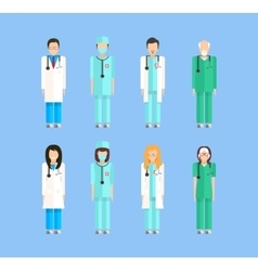 proffesion doctors 1 vector image vector image