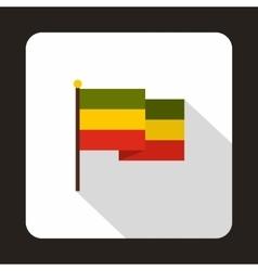 Rasta flag icon flat style vector