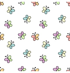 seamless baby pattern white vector image
