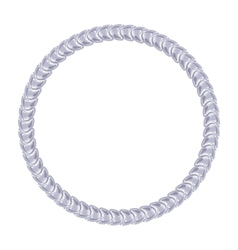 Silver chain - round frame on the white background vector