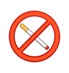 Smoking is prohibited icon cartoon style vector image vector image