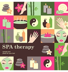 spa salon vector image vector image