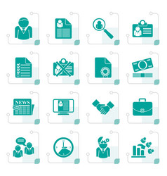 Stylized employment and jobs icons vector