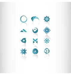 symbol elements set for web design vector image vector image