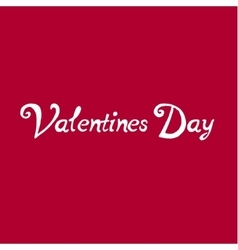 Valentines day vintage lettering background text vector image vector image