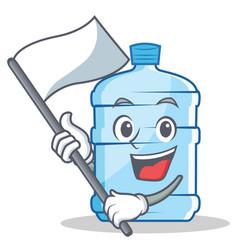 With flag gallon character cartoon style vector