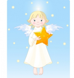 christmas angel vector image
