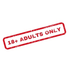 18 plus adults only text rubber stamp vector