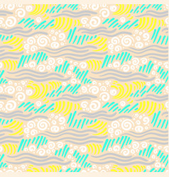 Abstract seamless pattern artistic drawing vector