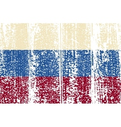 Russian grunge flag vector