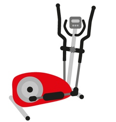 Red elliptical cross trainer vector