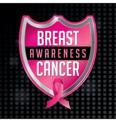 Breast Cancer Awareness Badge and Ribbon vector image