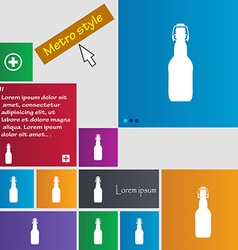 Bottle icon sign buttons modern interface website vector