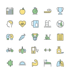 Fitness bold icons 1 vector