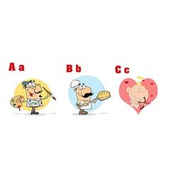 ABC Funny Cartoon Alphabet vector image vector image