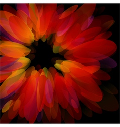 abstract red petals - stylish design vector image