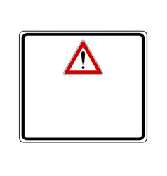 Attention sign with exclamation mark and added vector