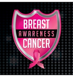 Breast Cancer Awareness Badge and Ribbon vector image