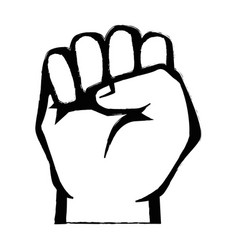Clenched hand symbol vector