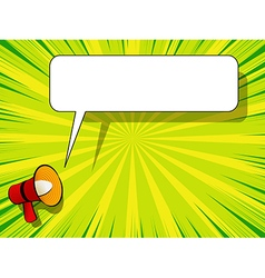 Comic book background with megaphone announcement vector image