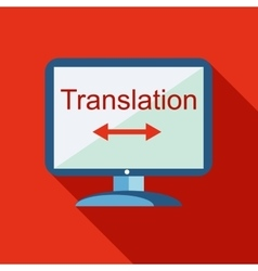 Desktop translator icon flat style vector
