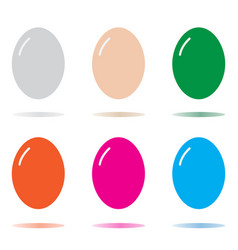 egg icon isolated on white background egg sign vector image vector image