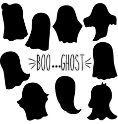 Ghost silhouette vector