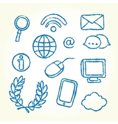 Hand drawn it icons vector