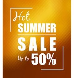 Hot summer sale over sunny golden background vector