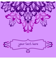 Lilac ornate background vector