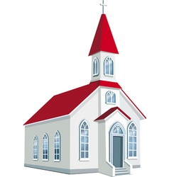 Little county christian church vector