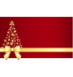 Luxury christmas certificate with christmas tree vector