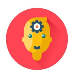 mind head gear icon vector image