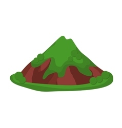 Mountain summer isolated vector