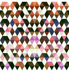 Retro pattern of geometric shapes colorful mosaic vector