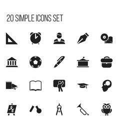 set of 20 editable science icons includes symbols vector image vector image