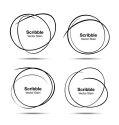 Set of Hand Drawn Scribble Circles design elements vector image vector image