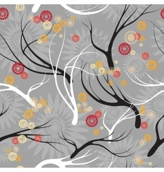 set patterns with branches vector image vector image