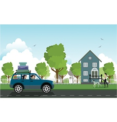 Traveling by car vector