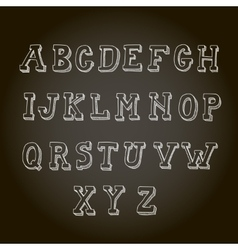 Vintage hand drawn decorative alphabet on vector