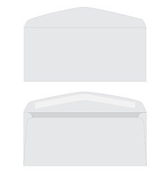 White envelope set vector image